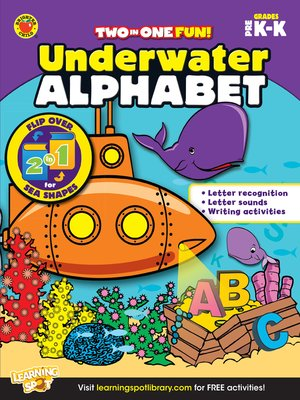 cover image of Underwater Alphabet & Sea Shapes, Grades PK - K