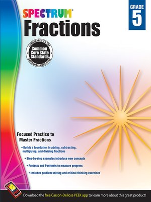 cover image of Fractions, Grade 5