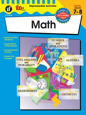 cover image of The 100+ Series Math, Grades 7 - 8
