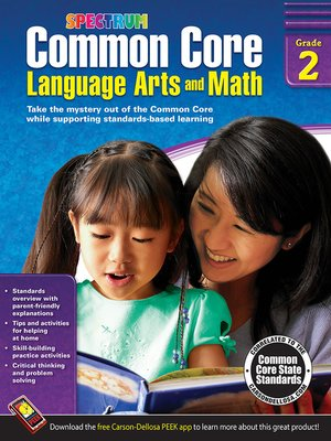 cover image of Common Core Language Arts and Math, Grade 2