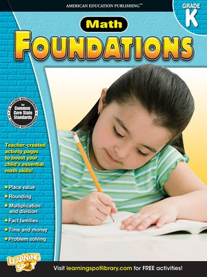 cover image of Math Foundations, Grade K