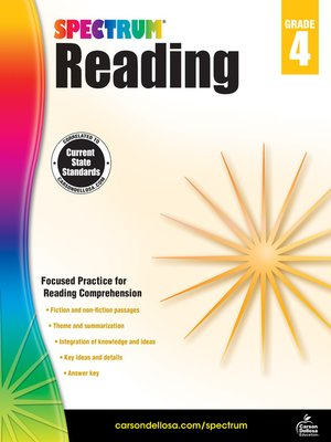 cover image of Spectrum Reading Workbook, Grade 4
