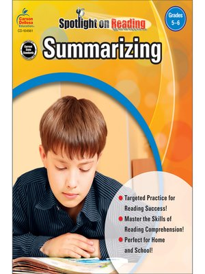 cover image of Summarizing, Grades 5 - 6