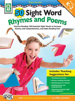 cover image of 50 Sight Word Rhymes and Poems, Grades K - 2