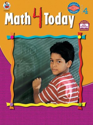 cover image of Math 4 Today, Grade 4