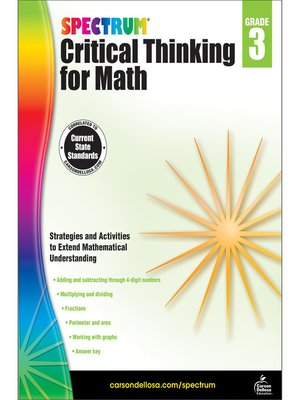 cover image of Spectrum Critical Thinking for Math, Grade 3