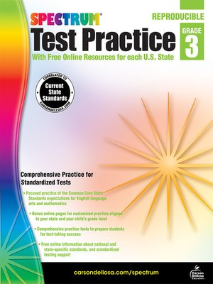 cover image of Spectrum Test Practice, Grade 3