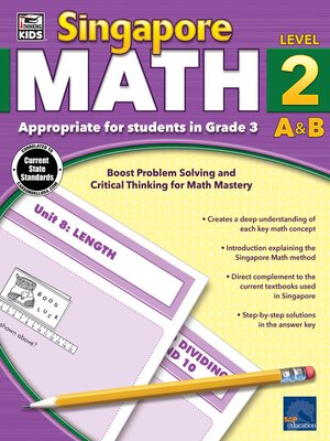 cover image of Singapore Math, Grade 3
