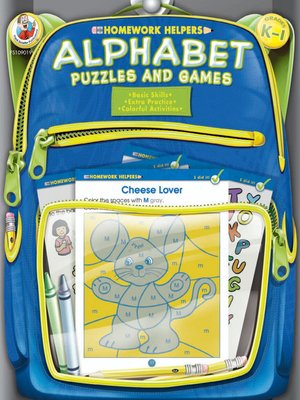 cover image of Alphabet Puzzles and Games, Grades K--1