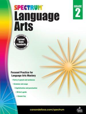cover image of Spectrum Language Arts, Grade 2