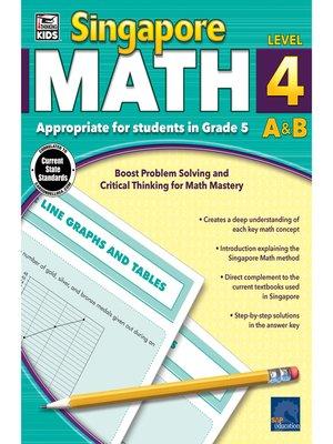 cover image of Singapore Math, Grade 5
