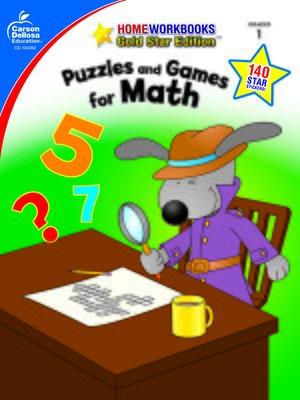 cover image of Puzzles and Games for Math, Grade 1