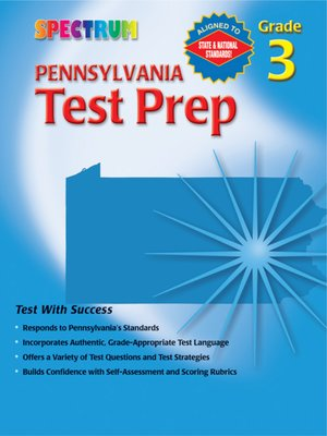 cover image of Pennsylvania Test Prep, Grade 3