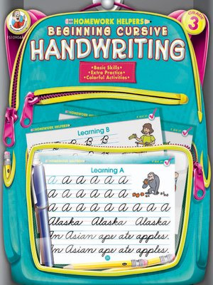 cover image of Beginning Cursive Handwriting, Grade 3