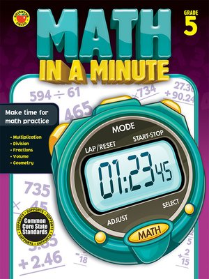 cover image of Math in a Minute, Grade 5