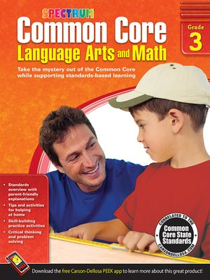 cover image of Common Core Language Arts and Math, Grade 3