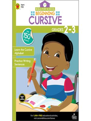 cover image of Beginning Cursive, Grades 2--3