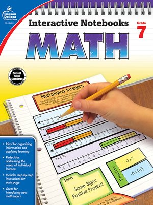 cover image of Math, Grade 7