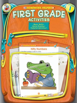 cover image of First Grade Activities Homework Helper