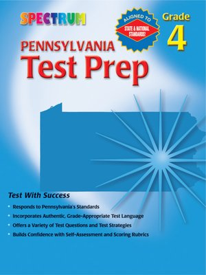 cover image of Pennsylvania Test Prep, Grade 4
