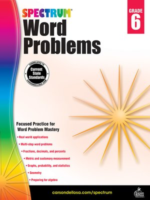 cover image of Word Problems, Grade 6