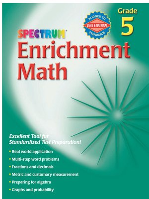 cover image of Enrichment Math, Grade 5