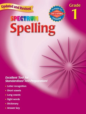 cover image of Spelling, Grade 1