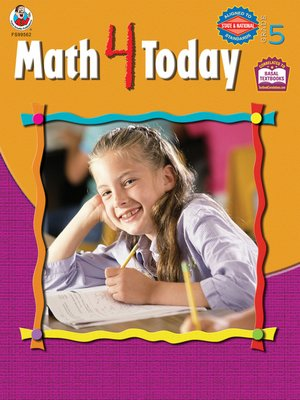 cover image of Math 4 Today, Grade 5
