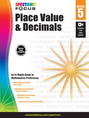 cover image of Spectrum Place Value, Decimals, and Rounding