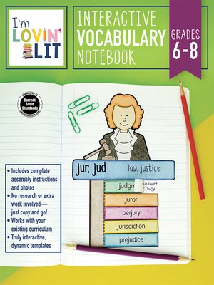 cover image of I'm Lovin' Lit Interactive Vocabulary Notebook, Grades 6--8