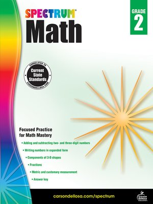cover image of Spectrum Math Workbook, Grade 2