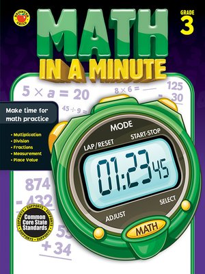cover image of Math in a Minute, Grade 3