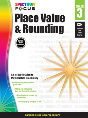 cover image of Spectrum Place Value and Rounding, Grade 3