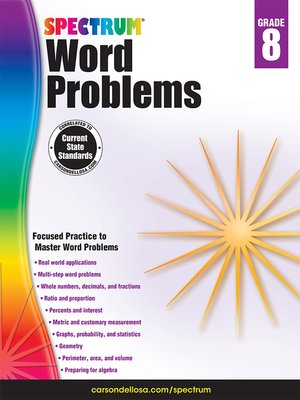 cover image of Word Problems, Grade 8