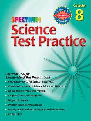 Spectrum Science Test Practice, Grade 8 · OverDrive (Rakuten