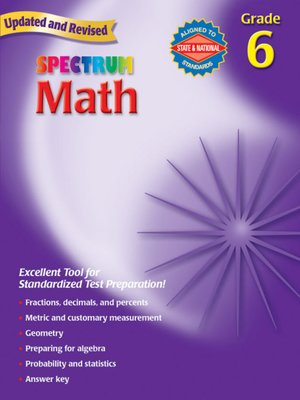 cover image of Spectrum Math, Grade 6