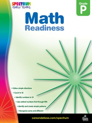 cover image of Math Readiness, Grade PK