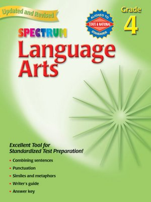 cover image of Spectrum Language Arts, Grade 4