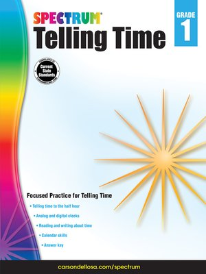 cover image of Telling Time, Grade 1