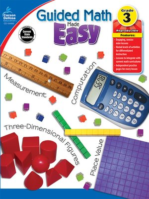 cover image of Guided Math Made Easy, Grade 3
