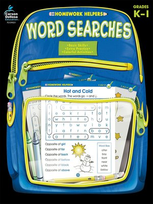 cover image of Word Searches, Grades K--1