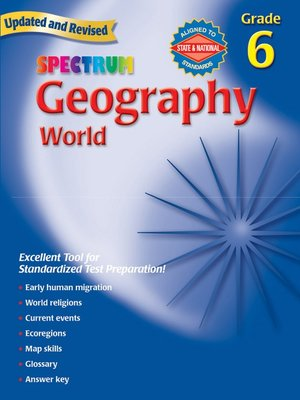 cover image of Geography, Grade 6