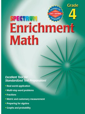 cover image of Enrichment Math, Grade 4