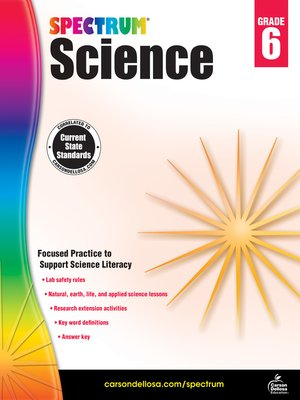cover image of Spectrum Science, Grade 6