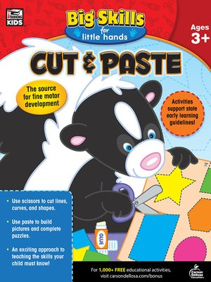 cover image of Cut & Paste, Ages 3--5