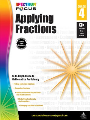 cover image of Spectrum Applying Fractions
