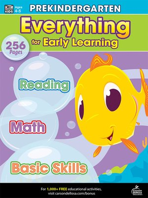cover image of Everything for Early Learning, Grade PK