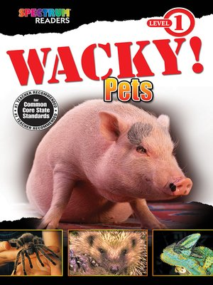 cover image of Wacky! Pets