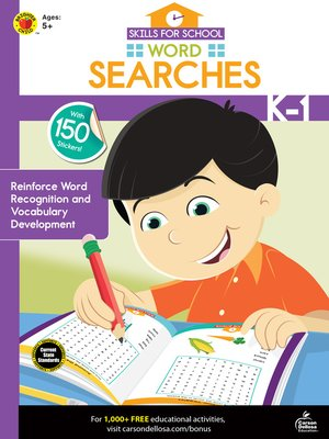 cover image of Skills for School Word Searches, Grades K--1