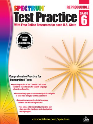 cover image of Spectrum Test Practice, Grade 6